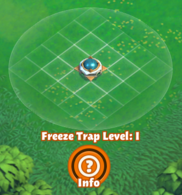 Freeze trap radius