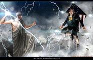 Ben franklin vs zeus by sharpwriter-d4hjp6a