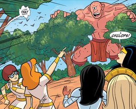 Cyclops loose on Paradise Island