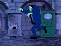 Frankenstein's Monster running in Franken Castle