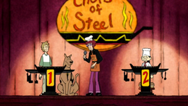 Shag and Scoob vs. Sukihari in cook-off