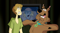 Baseball Specter traps Shag and Scoob in the steam room