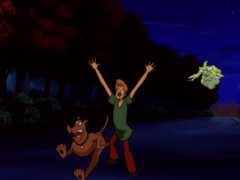 Scoob and Shag run from Witch's Ghost