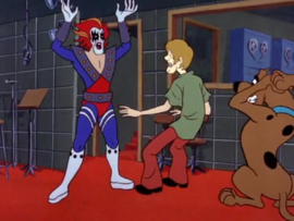 Shaggy and Scooby surprised by the Phantom