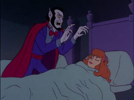 Gramps the Vamp reaching for Daphne's neck