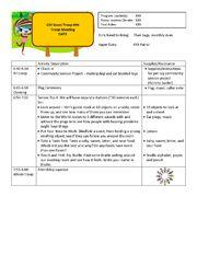 Brownie Meeting Plan template