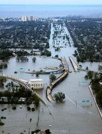 Hypothetical TD 13 flood