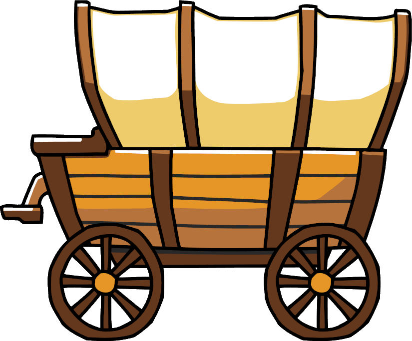 wagon  traditional  scribblenauts wiki fandom powered pioneer covered wagon clipart Horse and Wagon Clip Art