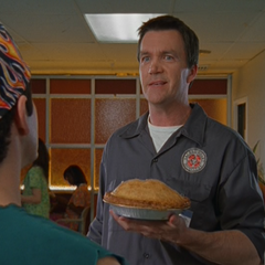Janitor offers J.D. and Todd pie