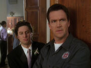 3x22 Janitor and JD at the reception