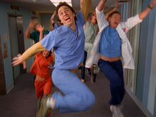 6x13 happy about scrubs