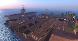 USS Nimitz Carrier, looking SE (01.14)