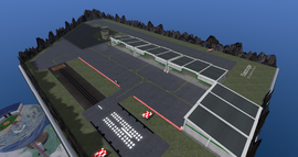 Slapdoogle Military Airfield, looking NE (03-14)