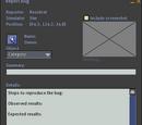 Report Bug Window