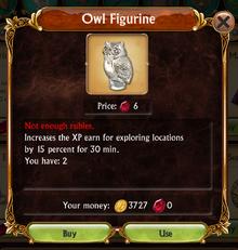 Store Owl Figurine information box