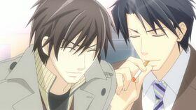Takano and Yokozawa laughing