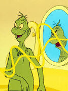 Max silences the Mirror Evil Grinch