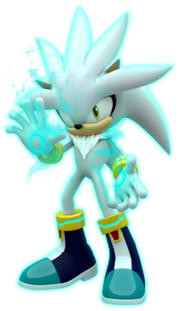 Silver the hedgehog with aura by mintenndo-d77nq1h
