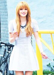 Bella-thorne-white-dotted-dress