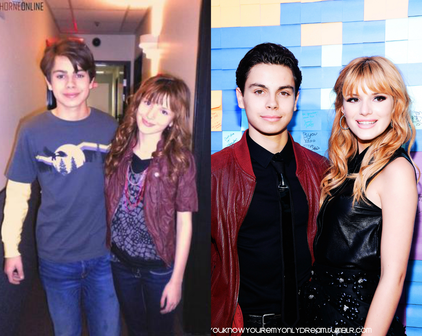 Image - Bella-Thorne-and-JakeTAustin-Pic-ComparisonYears ... Jake T Austin And Bella Thorne Kissing