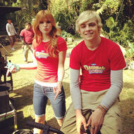 Bella-thorne-with-ross-lynch-in-red