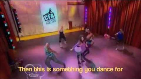 Shake it up - 'Something to dance for' dance scene (lyrics on screen)