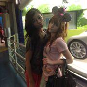 Bella and Zendaya on the rail.