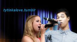 Caroline and roshon sing.png