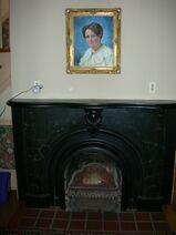 Waukegan Hutchins building interior central fireplace