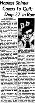 Morning Star.1963-02-22.Hapless Shimer Cagers To Quit; Drop 37 In Row