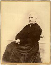Frances Wood Shimer seated