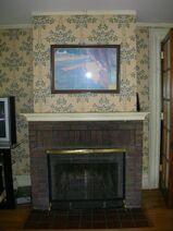 Waukegan Hutchins building interior fireplace
