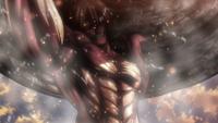 Eren carries the boulder