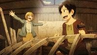 Armin and Eren build a plane