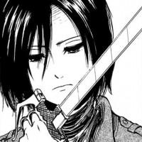 Mikasa Checks Her Blade