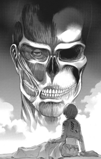 Armin sees the Colossus Titan in his dream