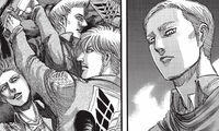 Erwin envisions his fallen comrades anger toward him