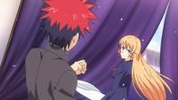Soma and Erina opening day (anime)