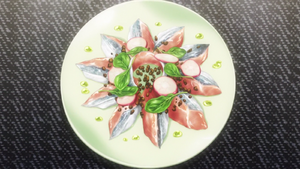 Scorched Pacific Saury Carpaccio (anime)