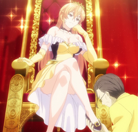 Tokihiko impressed by Erina's dish (anime)