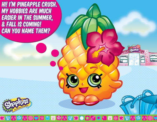 shopkins coloring pages pineapple crush - photo #29