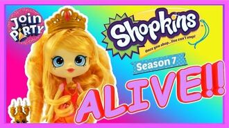 Shopkins Season 7 REAL LIFE Tiara Sparkles Shoppies Themed Doll Join the Party TALKING SHOPKINS