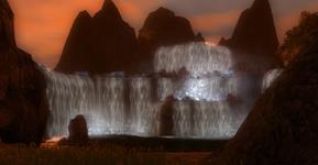 Brux waterfall