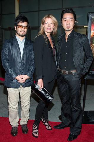 File:Mary Elizabeth McGlynn, Akira Yamaoka and Hideyuki Shin at the premiere of Silent Hill - Revelation.jpg