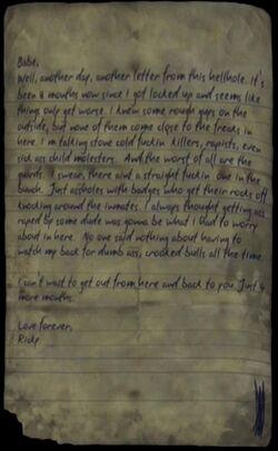 Ricky's Letter