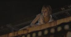 Heather on the popcorn wagon
