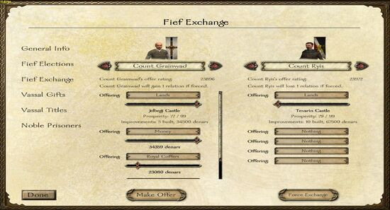 Fief exchange