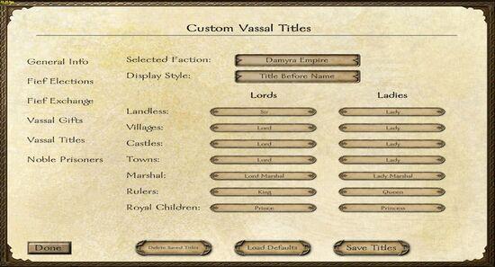 Custom vassal titles