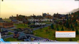 SWEETFX enabled in - SIMCITY - running on Windows 8.1 Improved graphics mod