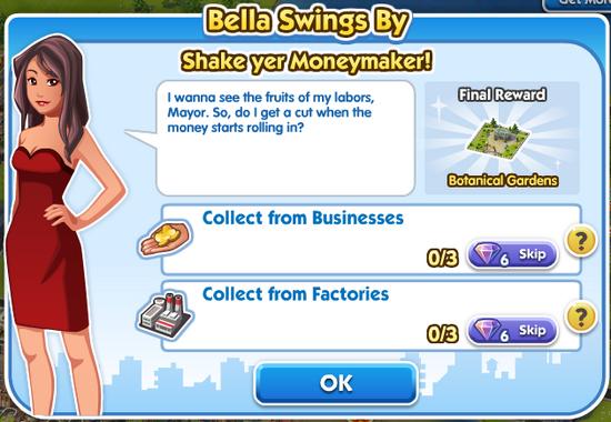 Quest bella Bella-swings-by Shake-yer-Moneymaker